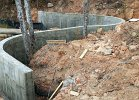 radius retaining wall