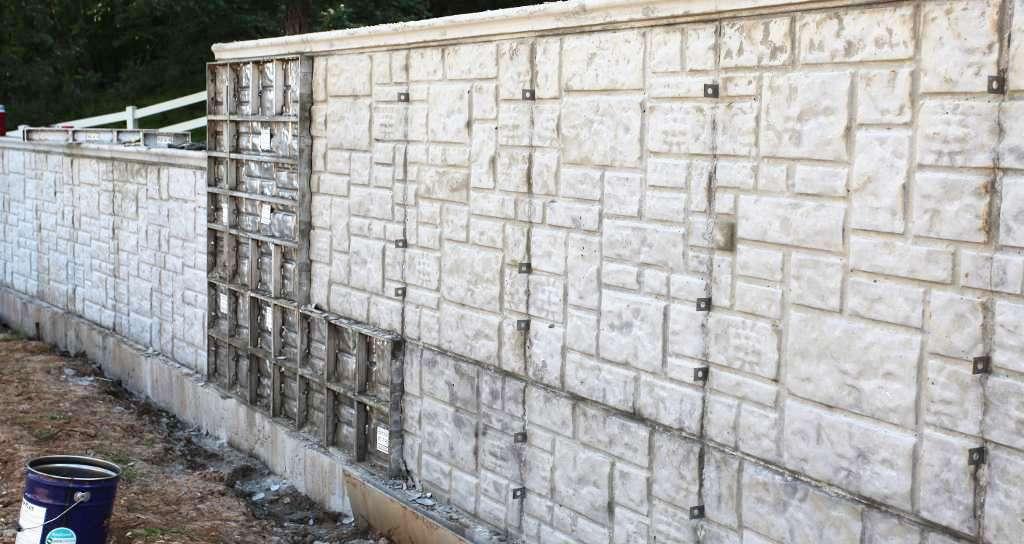 Alabama Ashlar Stone Concrete Walls